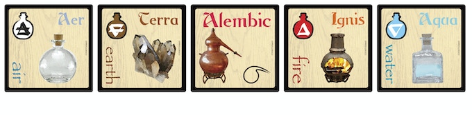 The basic Elements and an Alembic token.