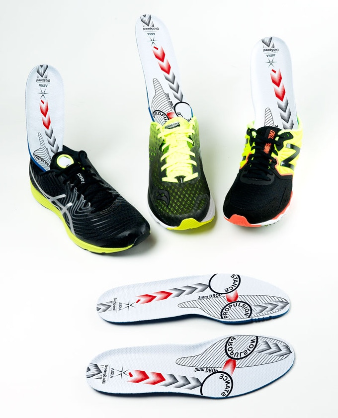 Airia BioSpeed Insole in makes you faster in any running shoe