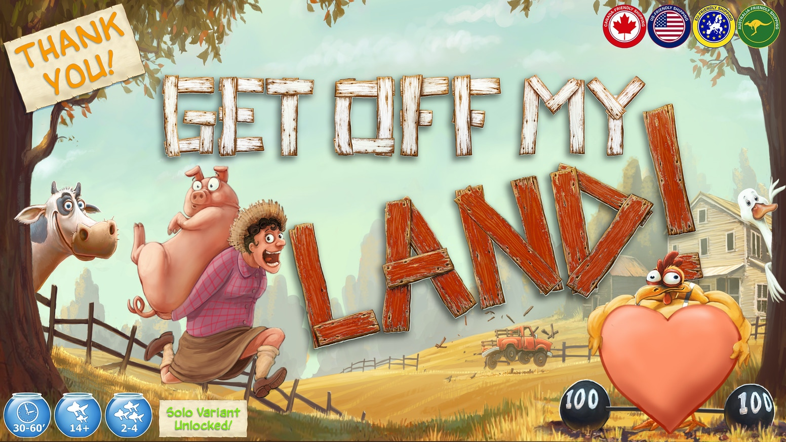"""A game of """"Close Quarter Farming"""" as players compete for limited land and resources. Will you be the most successful farmer?"""