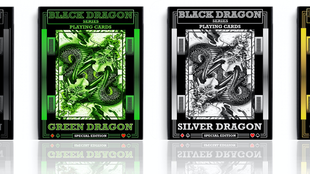 Black Dragon Series Playing Cards. project video thumbnail