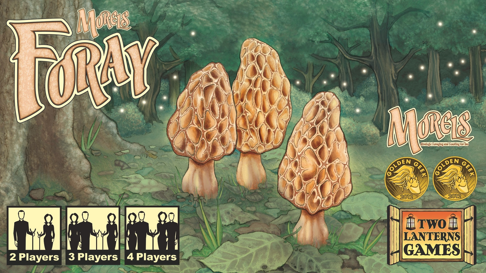 Foray expands hit 2-player game Morels with new characters, items, weather, and 2-4 player capability, each with its own unique system.
