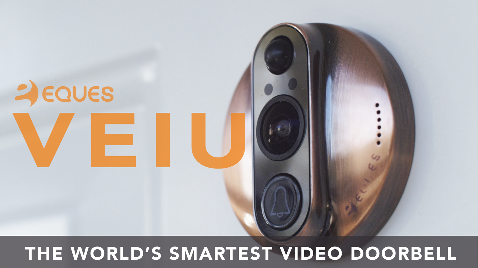 Protect your home from anywhere with the world's smartest video doorbell: VEIU.