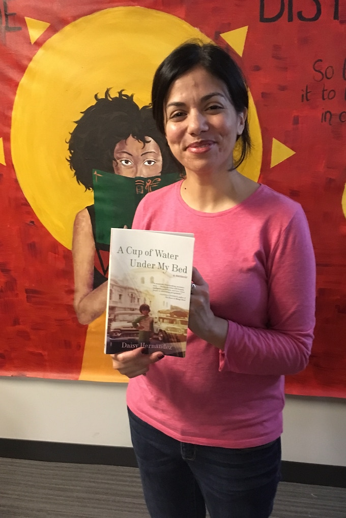 Daisy Hernandez, author of A CUP OF WATER UNDER MY BED. Her book will be one of the signed books for our DD Favorites Reward!
