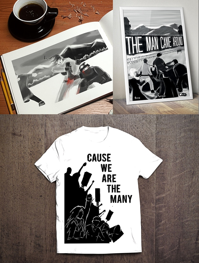 The Artbook, Poster and T Shirt. Also known as THE DREAM, people!