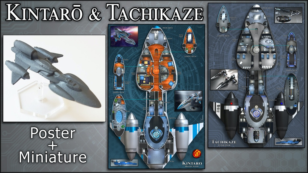 Kintaro: Starship Map Poster & Miniature project video thumbnail