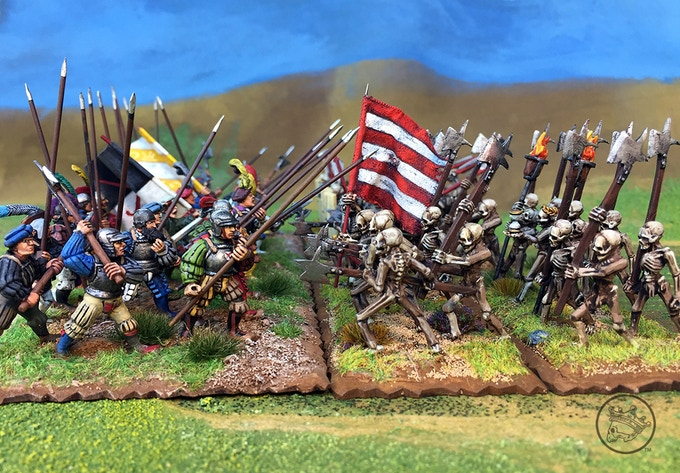 "GW Landsknechts vs Triumph of Death minis  ""Late"" Landsknechts"