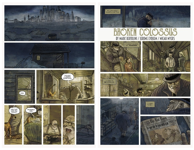 Pages 1 & 2 of Broken Colossus