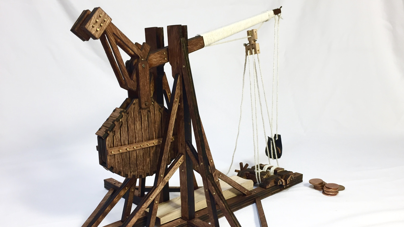 Snap Together A Highly Detailed Functional And Affordable Trebuchet Kit