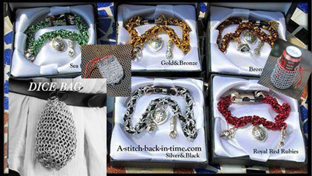 New Chainmail gamer Dice bags & cat collars and bracelets project video thumbnail