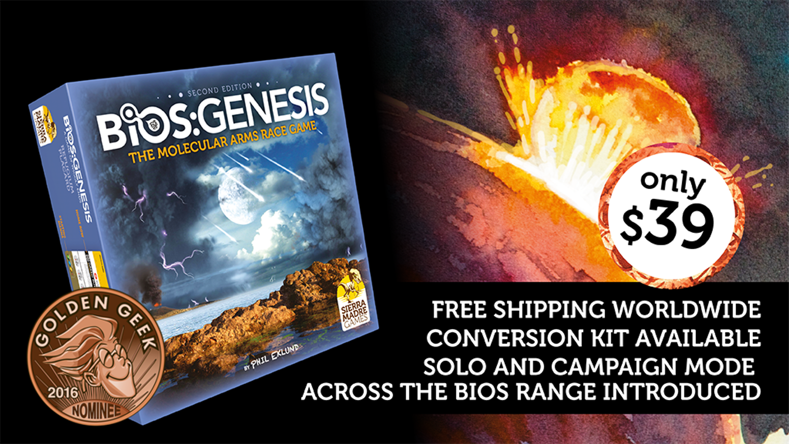 The origins of life game, Bios Genesis is back! Legendary designer Phil Eklund returns with a second edition of his hit: Bios Genesis!