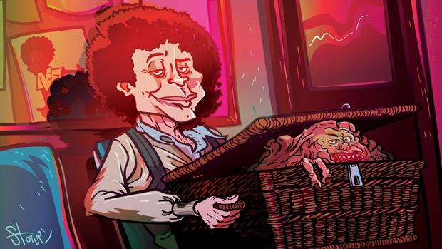 "James Stowe's take on ""Basketcase."""