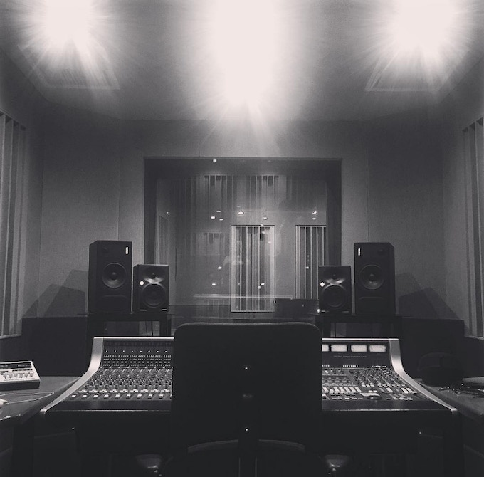 Control Room View at the Studio in Liverpool