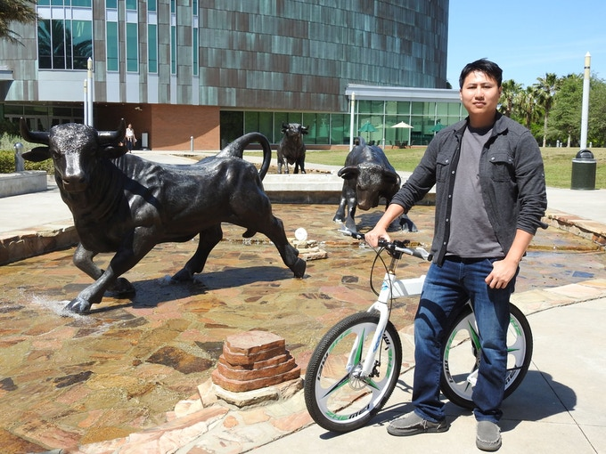 The first idea of Chainless was created right here (USF Marshall Student Center).