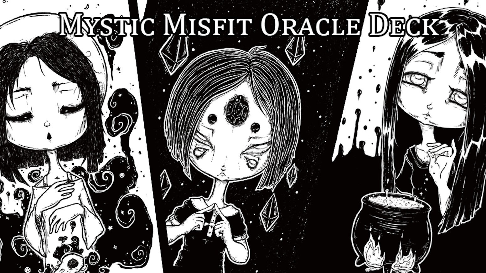 Mystic Misfit Oracle screen print Deck and coloring book by White ...