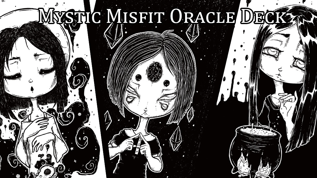 Mystic Misfit Oracle screen print Deck and coloring book project video thumbnail