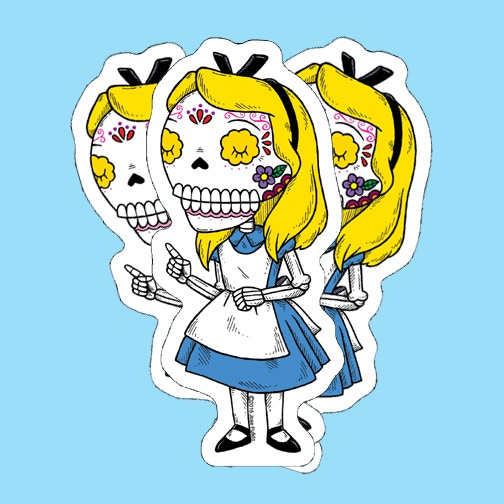 I have also launched my newest kickstarter campaign in case anyone is interested in pledging for day of the dead alice calavera stickers