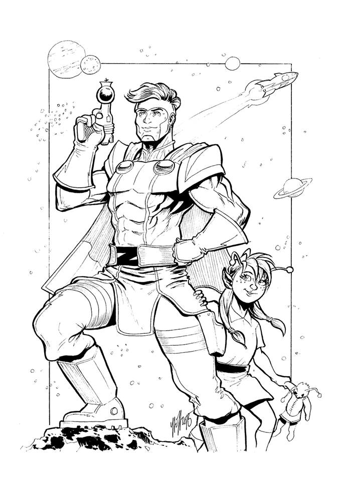 Zip Kramer pin-up by our friend, the amazingly Christopher Yao. Pledge $75 to own the original art!