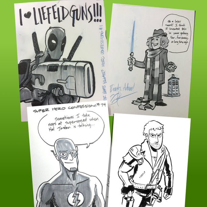 Some sketches by Gordon McAlpin