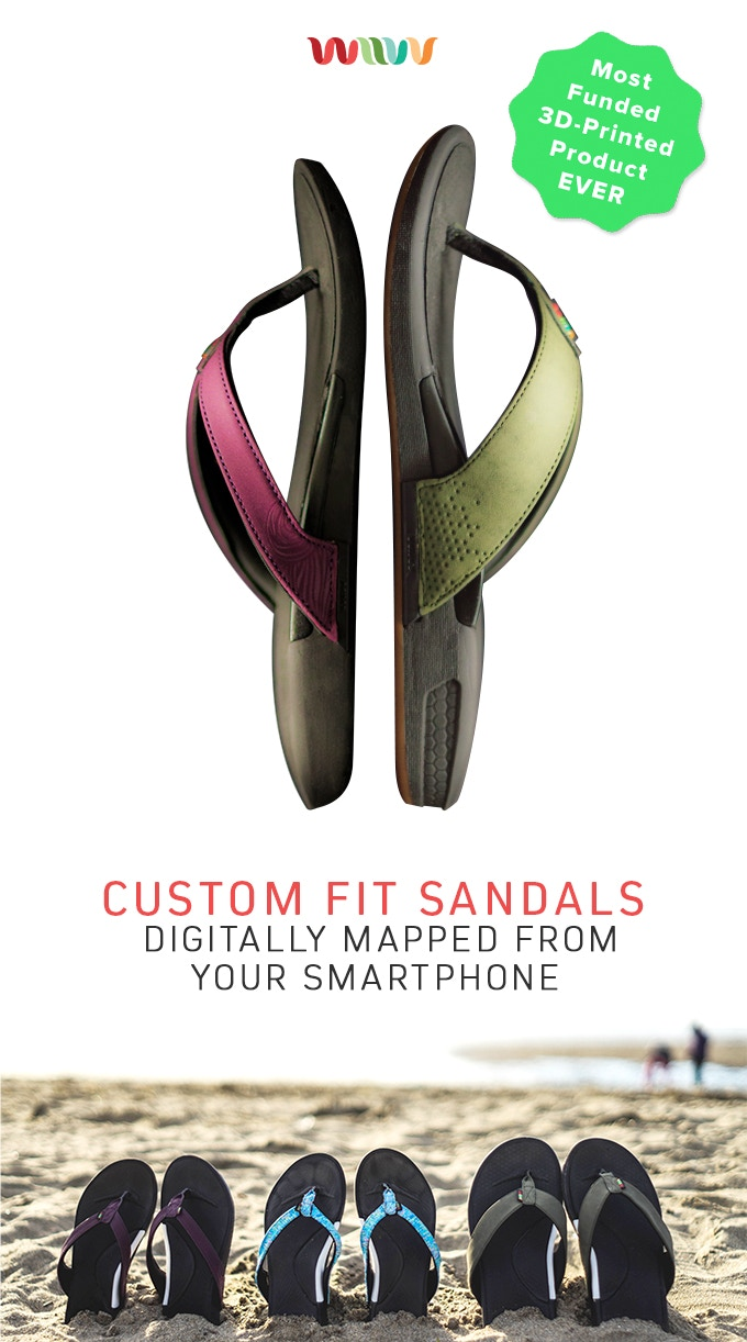 Worlds First Custom Fit Sandals For Personalized Comfort By Wiivv D Island Shoes Slip On Reborn Special Leather Black The Time Ever Experience Affordable Footwear Designed To Unique Contours Of Your Feet