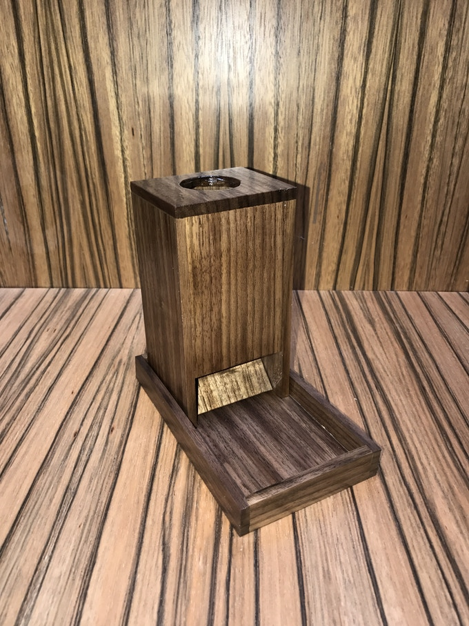 Solid Walnut Dice Tower and Tray