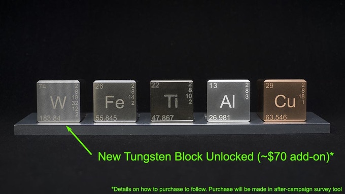 Element Block Set - Show with optional Tungsten Block (W)