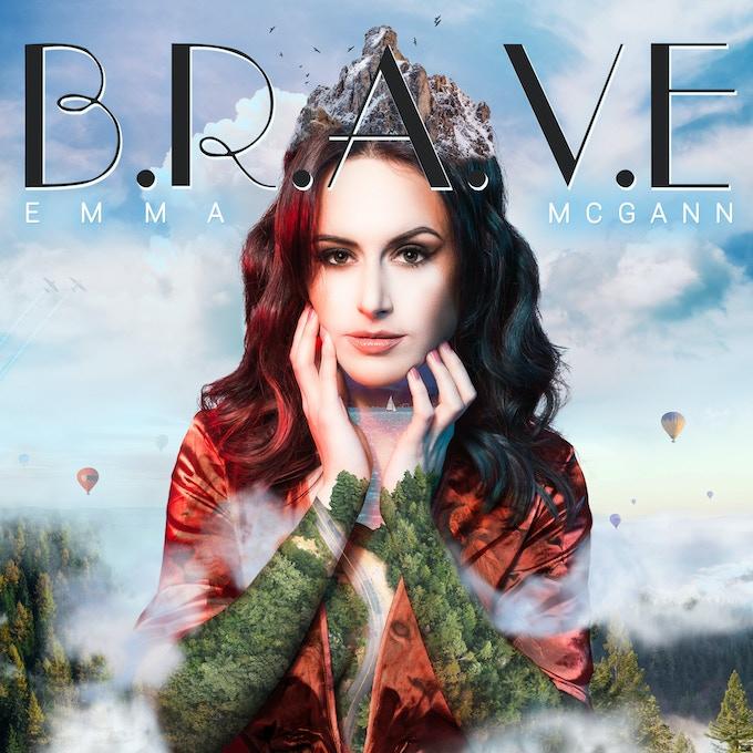 'B.R.A.V.E' Album Cover - Model Photography by Digital Flow. Graphics by Emma McGann.