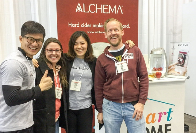 Oscar (on the left) and Angel (second on the right) from Alchema team ran into backers in Chicago!