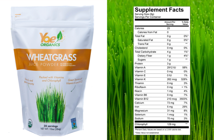 1 Ingredient - 100% US Grown Organic Non-GMO Wheatgrass