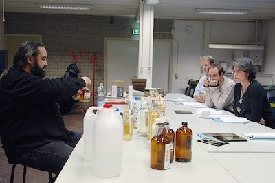Teaching the wet collodion process in Veghel, The Netherlands 2008