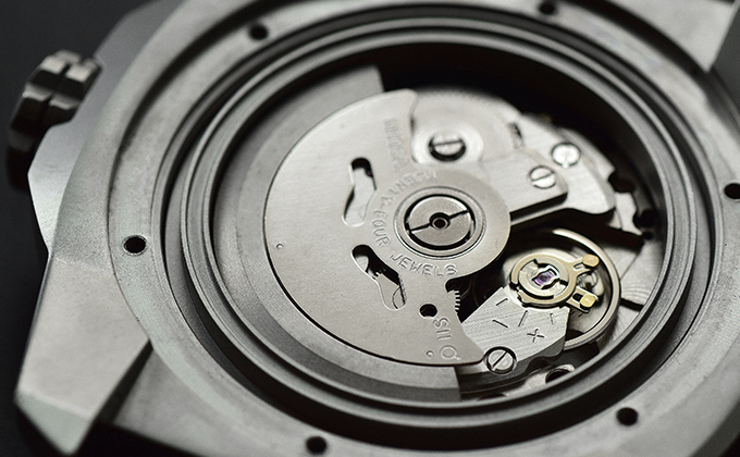 Japanese NH35A automatic movement with 42-hour power reserve.