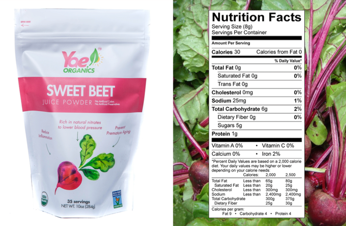 1 Ingredient - 100% US Grown Organic Non-GMO Sweet Beets