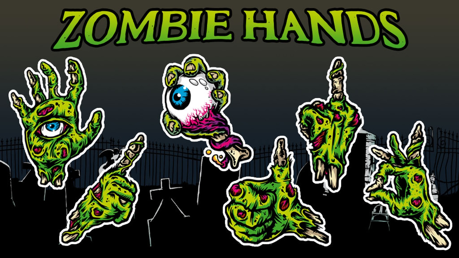 Help me get these limited edition zombie hands vinyl stickers pack and or some