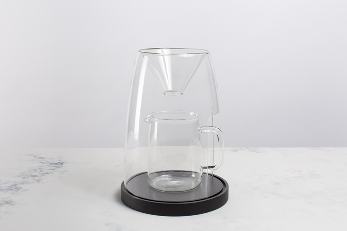 A pour-over coffee maker designed to elevate the ritual of making coffee by hand.