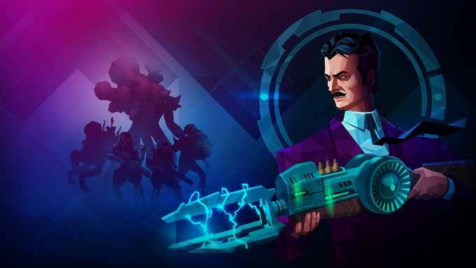 Nikola Tesla – the main hero of the game, with the Tesla Gun.