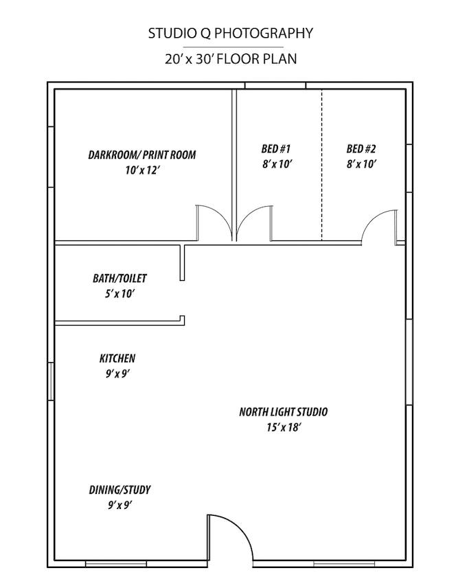 Studio Q Photo Floor Plan