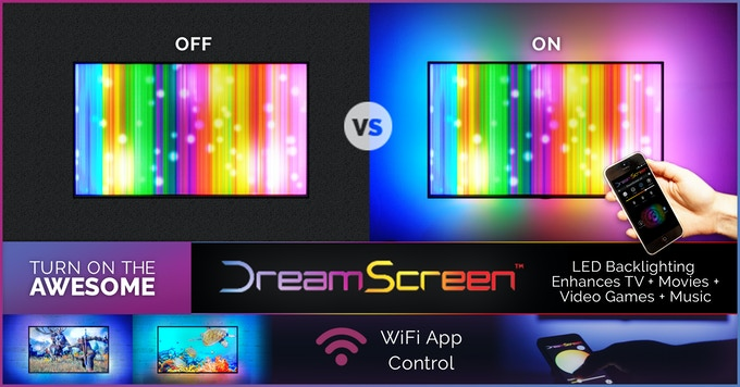 DreamScreen HD & 4K - Smart TV Backlighting for any HDMI TV