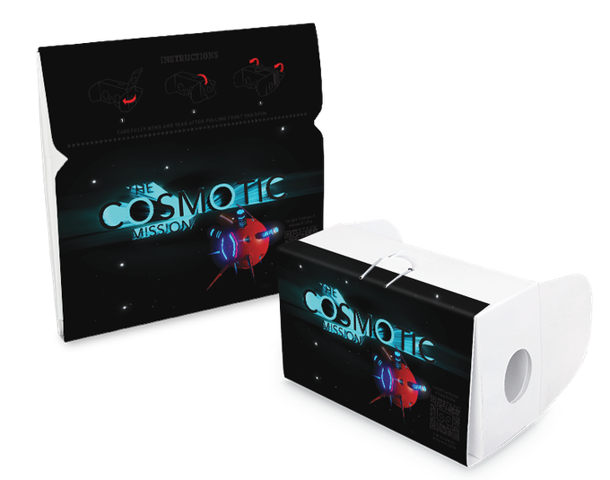 The Cosmotic Mission Branded VR Cardboard