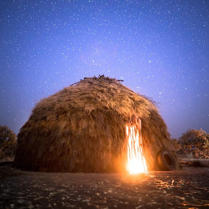 A traditional bushman dwelling.