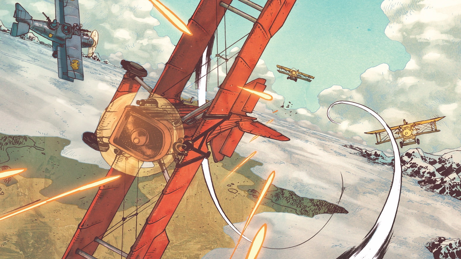 Skies of Fire is a dieselpunk airship story about a captain and her crew.
