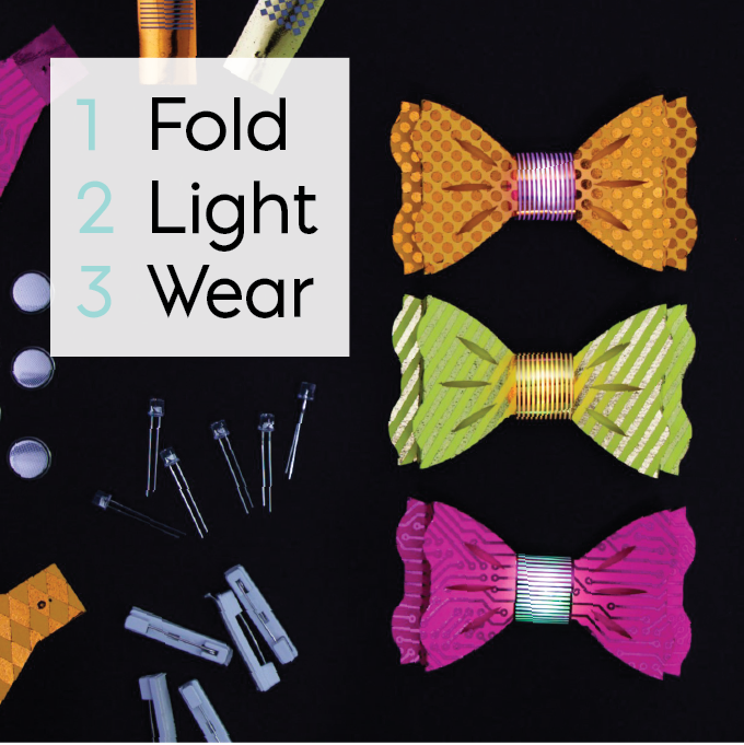 74e311b1481a My new light-up paper bow tie kits come in packs of 10