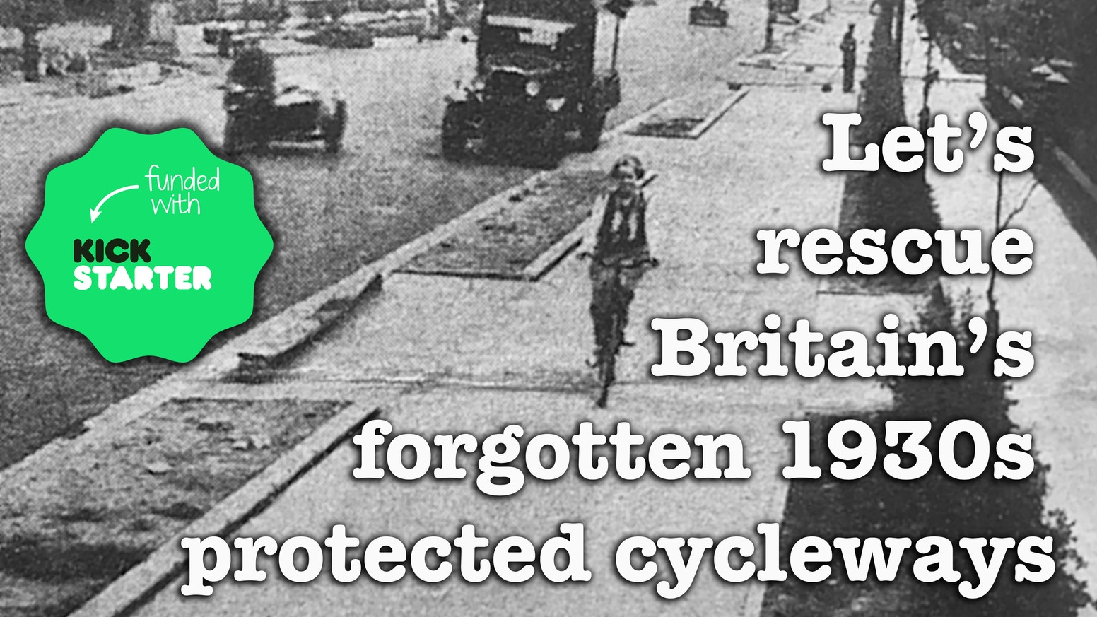 We should revive Britain's long-lost 1930s cycleways (there were 300+ miles of them). Many were buried, some are hidden in plain sight.