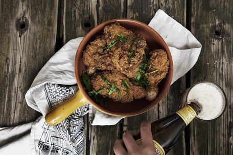 Fried Chicken, styled by Amanda. Photo by: Preston Drake-Hillyard
