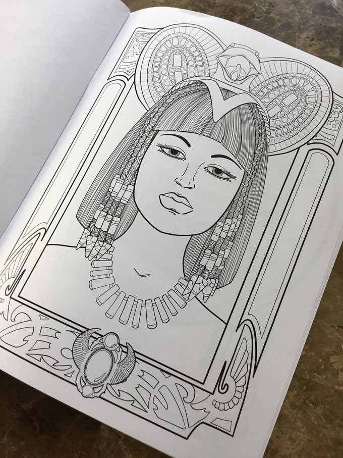 The Gilded Ladies Art Nouveau Inspired Coloring Book By