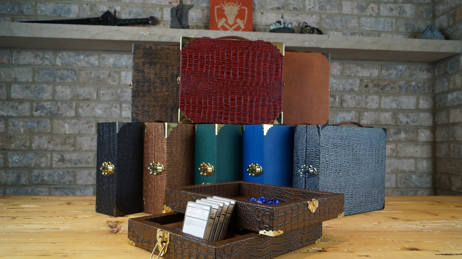 The Adventurer's Kit is a beautiful carrying case designed to fit everything an RPG player would need. And it doubles as a play area!