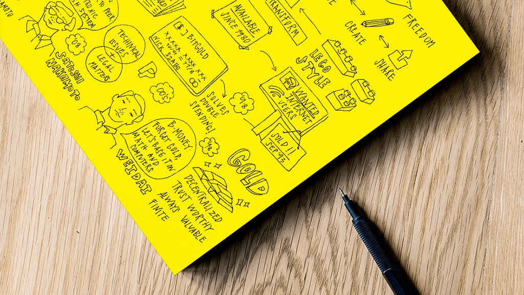 Bitcoin on a napkin: The Illustrated Book project video thumbnail