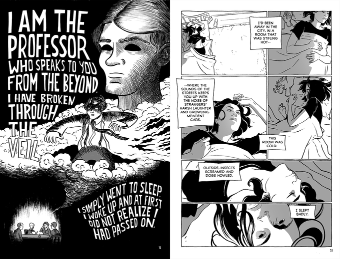 Pages from Then It Was Dark, art by Emi Gennis and Meg Gandy