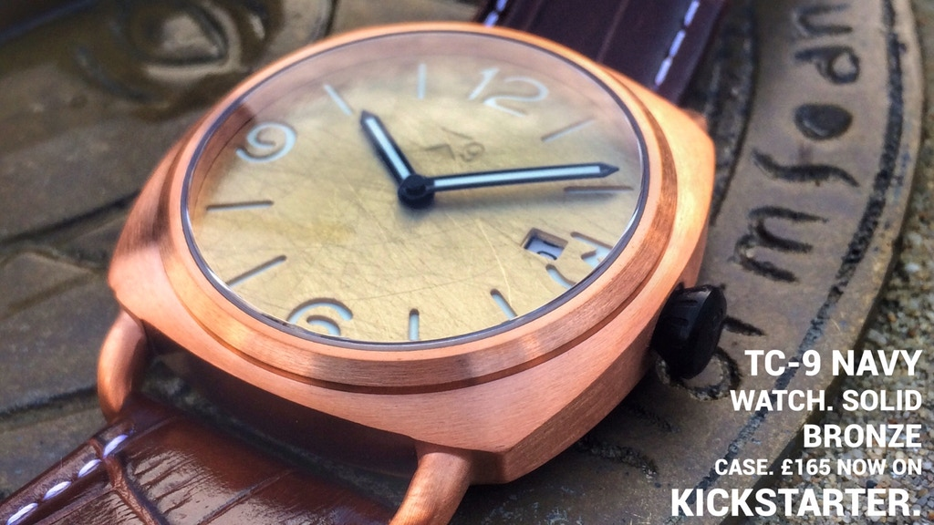 TC-9 Navy Watch. Solid Bronze Automatic Watch. project video thumbnail