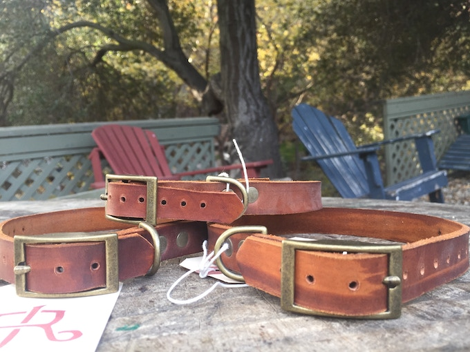 Dog collars made by hand by us.