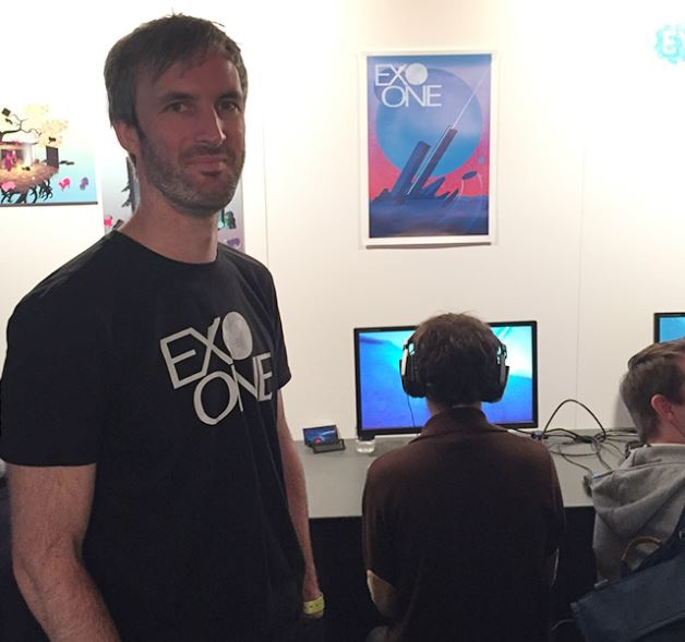 Jay showing EXO ONE at EGX Rezzed, Leftfield