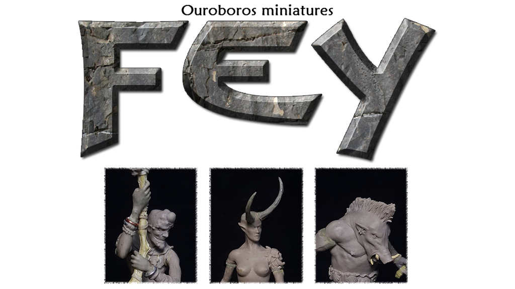 Ouroboros Miniatures present Fey. 54mm scale fantasy characters cast in high quality resin. Please support us and help bring these out!